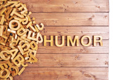 Word humor made with wooden letters Stock Photography