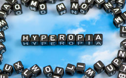 The word hyperopia Royalty Free Stock Images