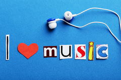 The word I love music Royalty Free Stock Photos