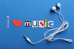 The word I love music Royalty Free Stock Photography