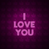 The word i love you as background Stock Photo