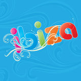 The word ibiza Royalty Free Stock Images