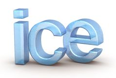 Word ice on white background Royalty Free Stock Images