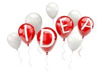 Word idea on air balloons Stock Photography