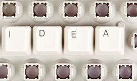 Word of the idea of keyboard Stock Photo