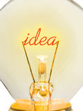 Word Idea in lamp Stock Image