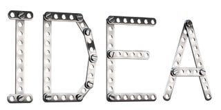 Word Idea made from metall construktor. Stock Image