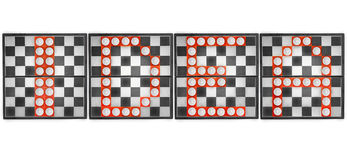 Word idea made up of pieces on the chessboard. Royalty Free Stock Images