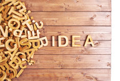 Word idea made with wooden letters Stock Photography