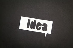 The word idea in speech bubble Royalty Free Stock Photo