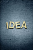 The word idea on textured background Royalty Free Stock Photos