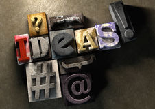 The word ideas made from colorful grunge Royalty Free Stock Photo