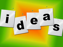 Word Ideas Represents Create Inventions And Creativity. Create Word Meaning Inventions Invention And Idea Stock Image