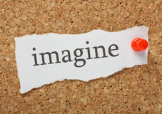 The word Imagine Stock Photo