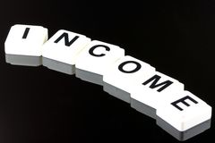 The Word Income - A Term Used For Business in Finance and Stock Market Trading Stock Images