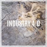 Word Industry 4.0 over industrial places from above. Royalty Free Stock Image