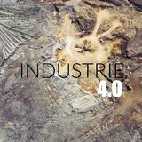 Word Industry 4.0 over industrial places from above. Royalty Free Stock Images