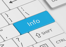 The word Info written on the keyboard Royalty Free Stock Images