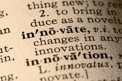 The word innovate stock image