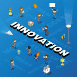 Word innovation with people and tags Royalty Free Stock Photography