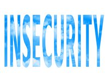 Word insecure. On white background Royalty Free Stock Photos
