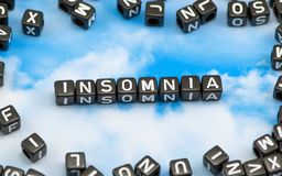 The word Insomnia royalty free stock photo