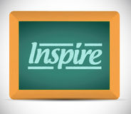 Word inspire written on a blackboard. Stock Photography