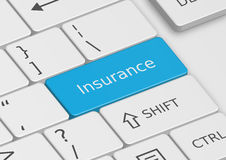 The word Insurance written on the keyboard Royalty Free Stock Photography
