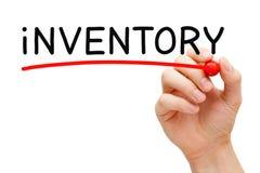 Word Inventory Handwritten With Black Marker Stock Photos