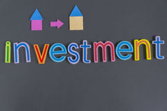 Word of Investment. Planning, composed on blackboard - Investment Concept Royalty Free Stock Image