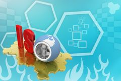 Word iso  concept on puzzle illustration Stock Photo