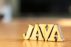 Word Java image stock