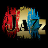 Word jazz isolated on a black Royalty Free Stock Image