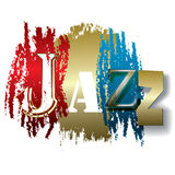 Word jazz isolated on a white Royalty Free Stock Photography