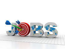 Word Job with Target and Dart Stock Images