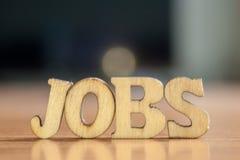 The word `jobs` stock photos
