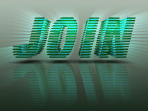 Word Join 3D Green Letters Stock Image