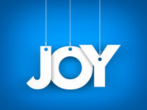 Word JOY hanging on the ropes Royalty Free Stock Image
