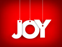Word JOY hanging on the ropes Royalty Free Stock Images