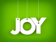 Word JOY hanging on the ropes Royalty Free Stock Photo