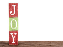 The word joy spelled out on blocks Royalty Free Stock Photos