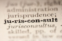 Word jurisconsult Stock Photos