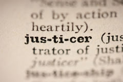 Word justicer Royalty Free Stock Image