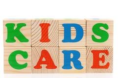 Word kids care Stock Photo