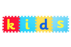 Word kids Royalty Free Stock Images