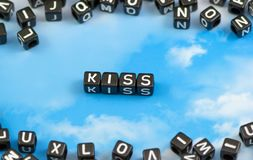 The word kiss Royalty Free Stock Photo