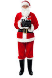 Word klaar voor het volgende schot van de Kerstman Stock Afbeeldingen