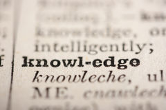 Word knowledge Royalty Free Stock Image