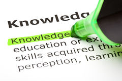 The word 'Knowledge' highlighted Stock Images
