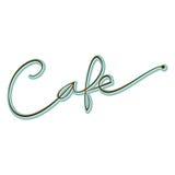 Word Koffiehand Geschreven Manuscript Stock Afbeelding